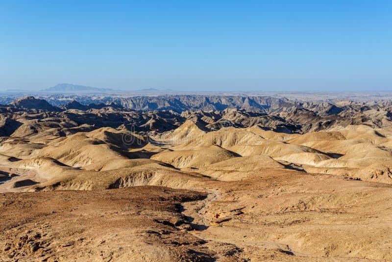 Namibia moonscape blisko Swakopmud zdjęcie royalty free
