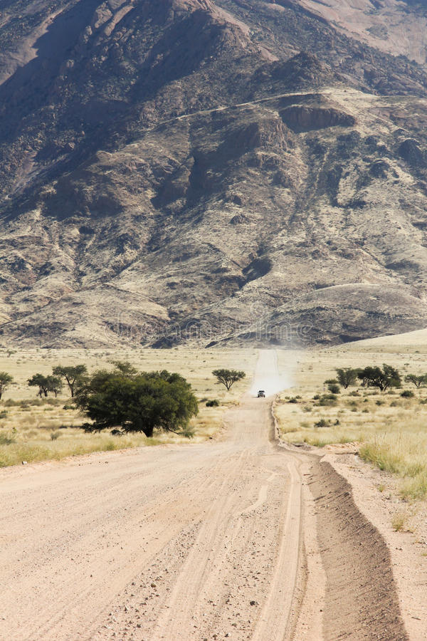 Namibia Mountain with Dirt Road royalty free stock images