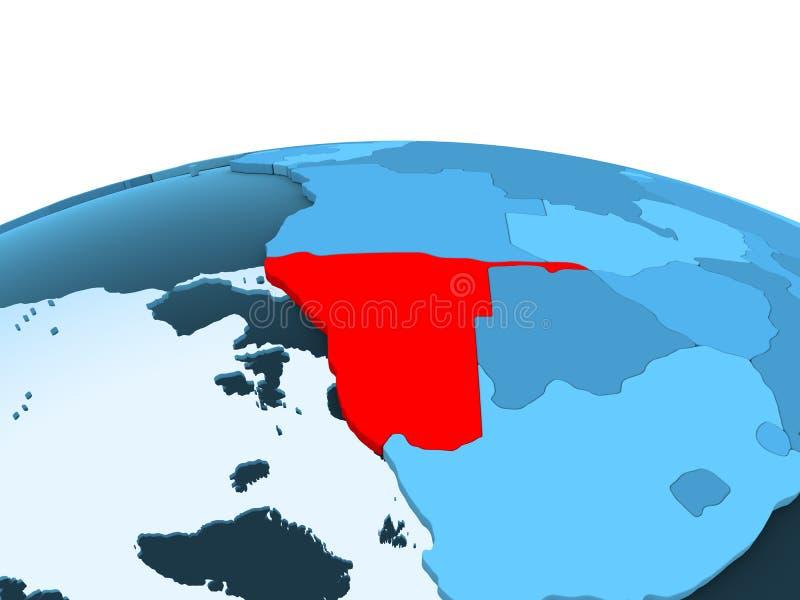 Namibia na błękitnej politycznej kuli ziemskiej royalty ilustracja