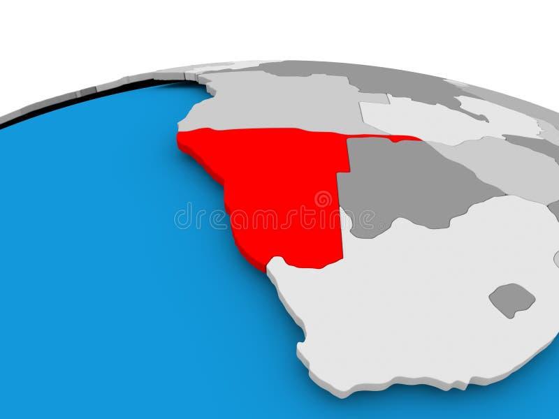 Namibia na politycznej kuli ziemskiej royalty ilustracja