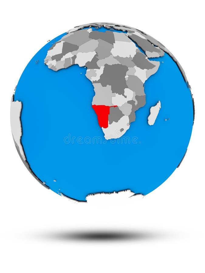 Namibia na politycznej kuli ziemskiej odizolowywającej royalty ilustracja