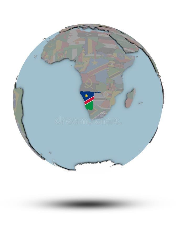 Namibia na politycznej kuli ziemskiej odizolowywającej ilustracji