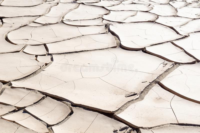 Namibia parched earth landscale. Namibia landscape, Damaraland parched cracked earth after the rain royalty free stock images