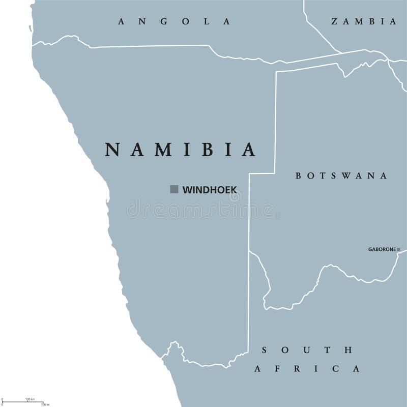 Namibia polityczna mapa royalty ilustracja