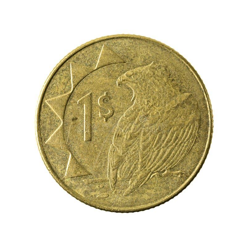 1 namibian dollarmyntavers 2010 fotografering för bildbyråer