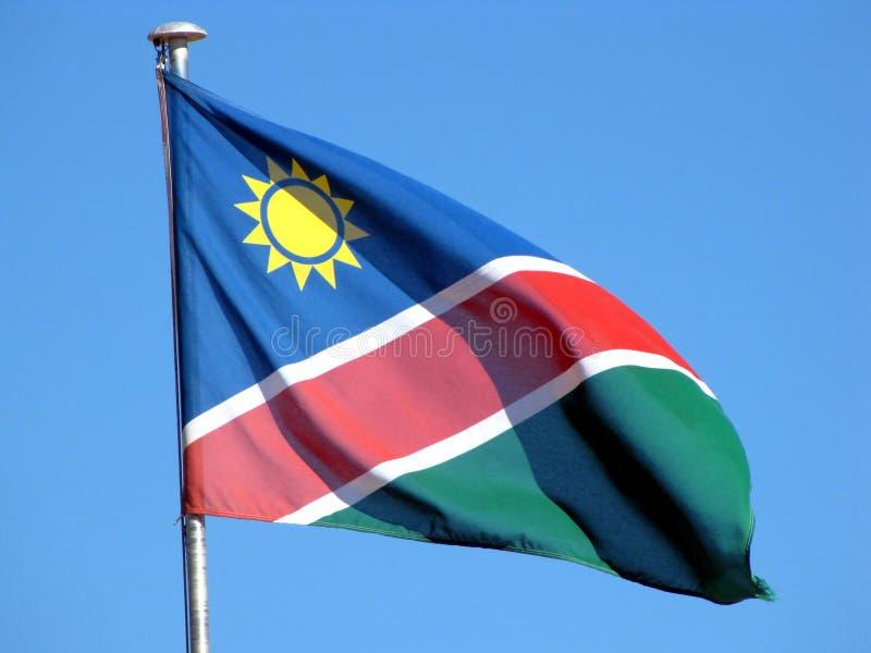 Namibian flag royalty free stock image