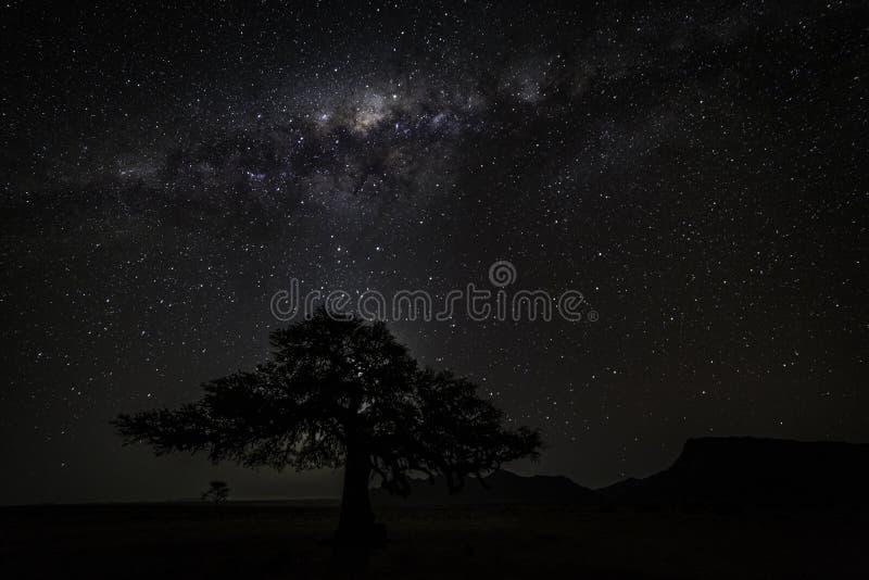 Namibian nachthemel royalty-vrije stock afbeelding