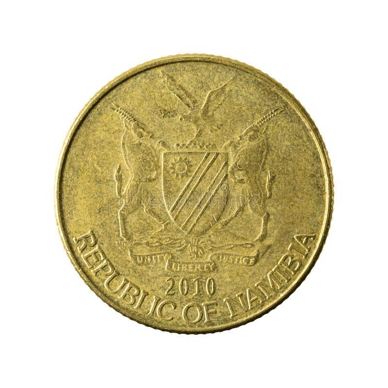 1 namibian omvända dollarmynt 2010 royaltyfri fotografi