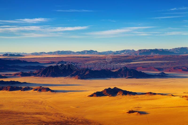 Namibische Wüste, Luftaufnahme lizenzfreies stockbild