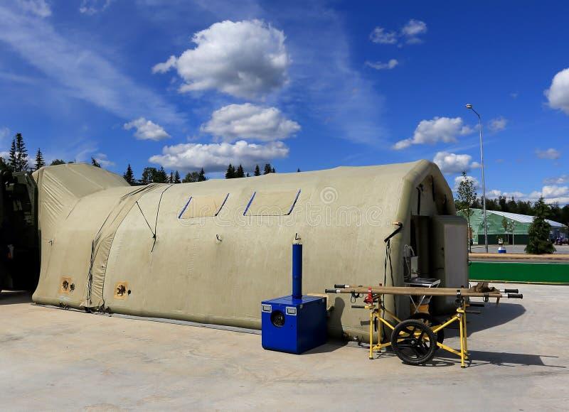 Namiot śródpolny mobilny szpital zdjęcie royalty free