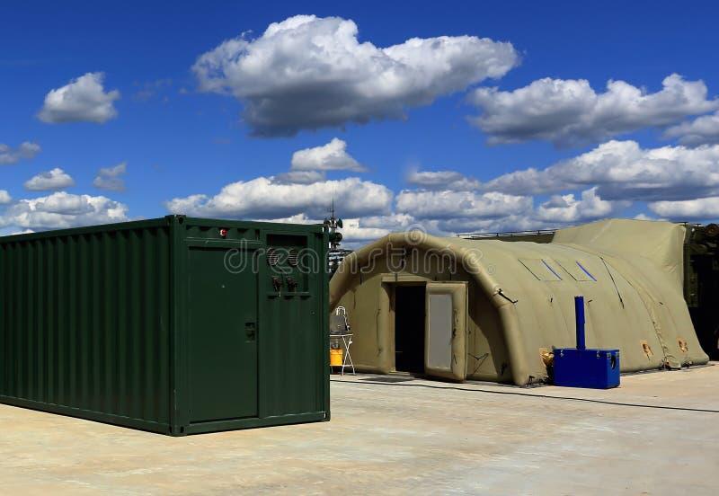 Namiot śródpolny mobilny szpital fotografia stock