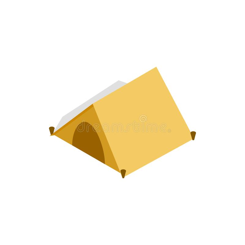 Namiot dla turysta ikony, isometric 3d styl ilustracji
