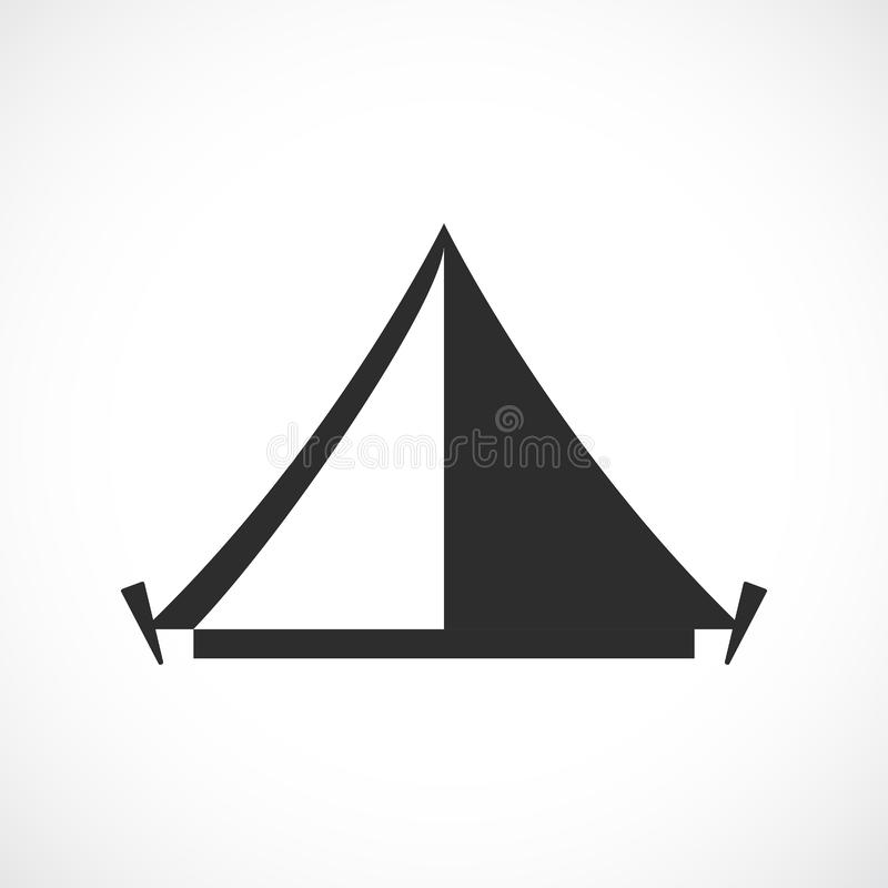 Namiot obozowa wektorowa ikona ilustracja wektor