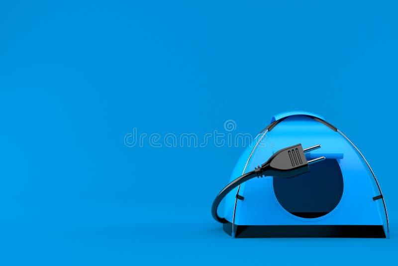 Namiot z elektryczną prymką royalty ilustracja