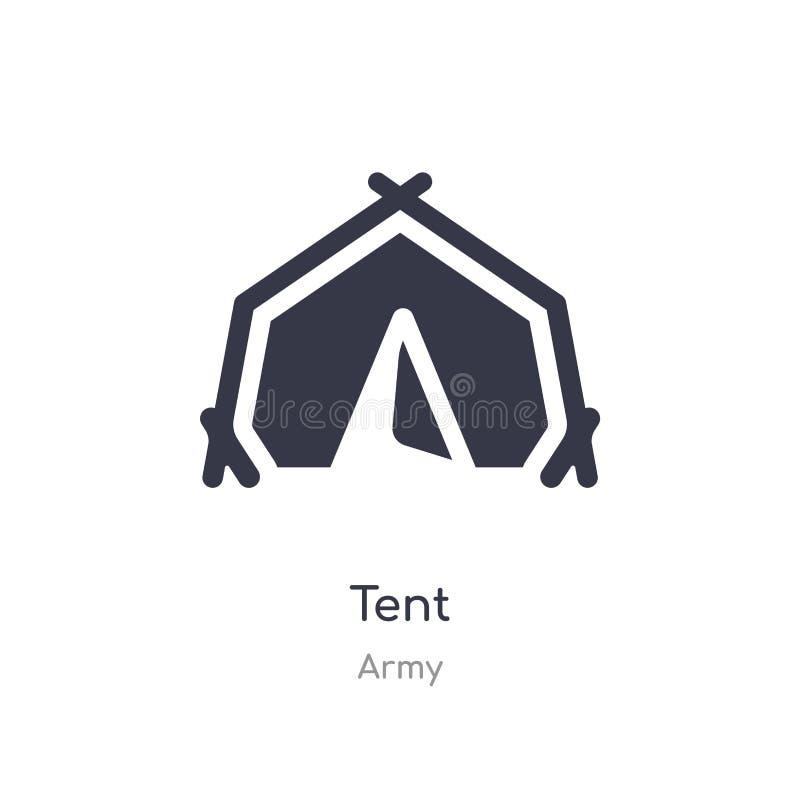 Namiotowa ikona odosobnionej namiotowej ikony wektorowa ilustracja od wojsko kolekcji editable ?piewa symbol mo?e by? u?ywa dla s royalty ilustracja
