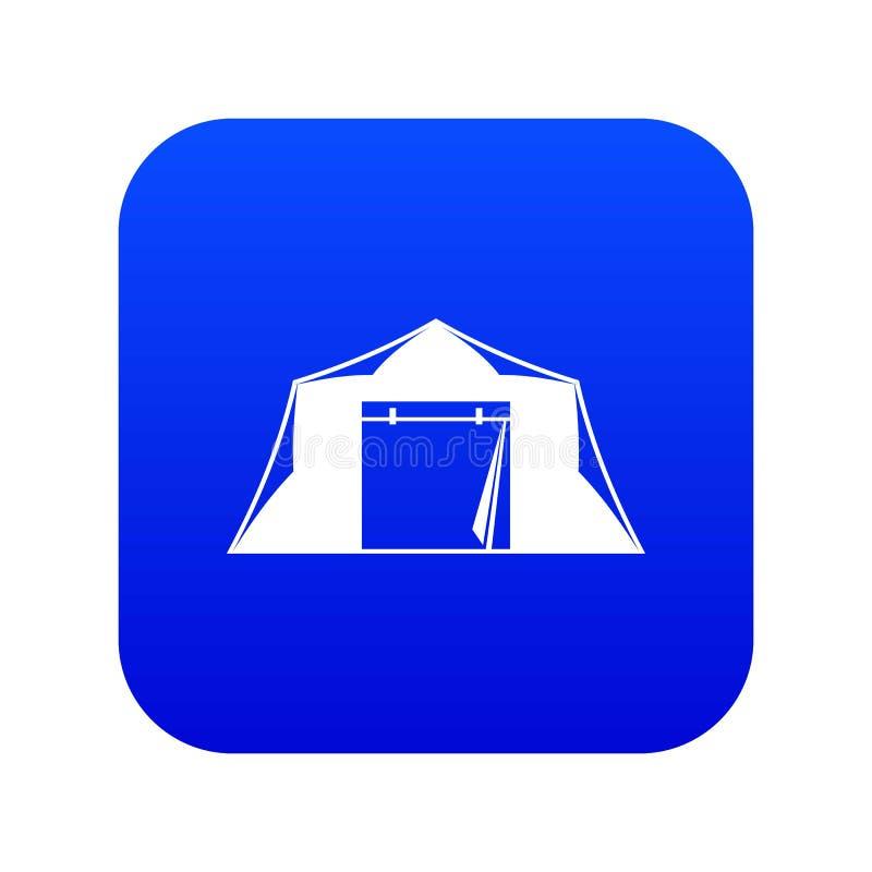 Namiotowej ikony cyfrowy b??kit royalty ilustracja