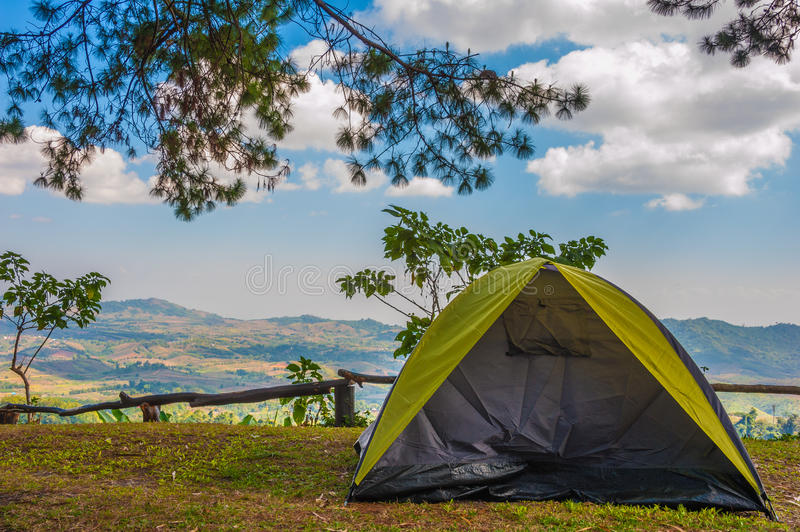 Namiotowy camping obrazy royalty free