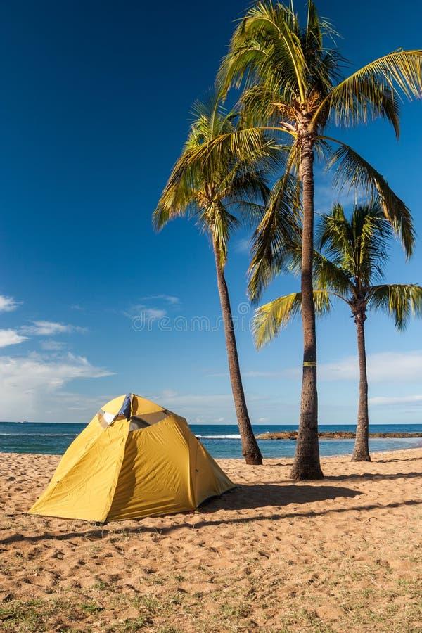 Namiotowy camping na wyspie Kauai zdjęcia stock
