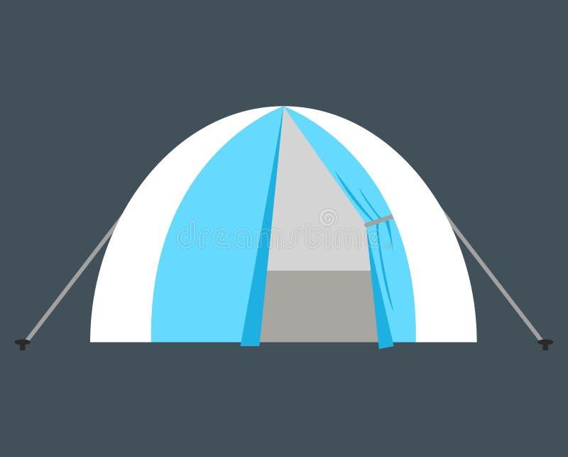 Namiotowy wektorowy ilustracyjny symbolu przedmiot Płaski ikona stylu pojęcia projekt ilustracji