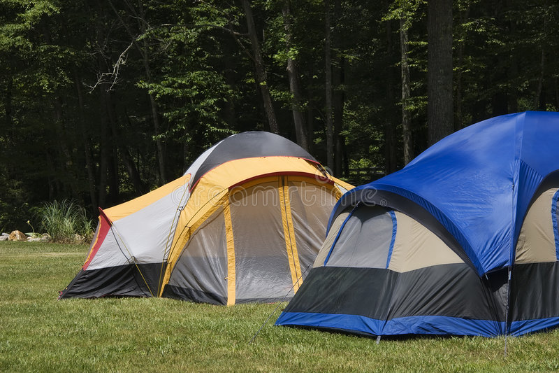 namioty campingowi fotografia stock