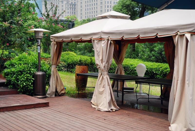 Namioty dla plenerowego przyjęcia obraz royalty free