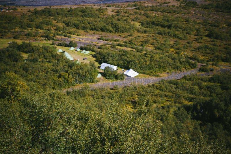 Namioty w Iceland fotografia royalty free