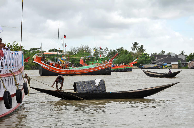 Namkhana-αλιεύοντας χωριό της Ινδίας στοκ φωτογραφία