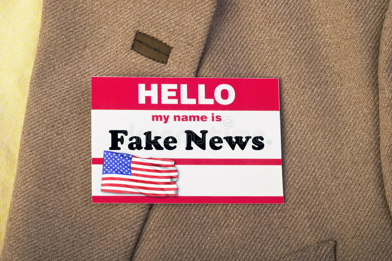 Namnet är fejkar nyheterna royaltyfri bild