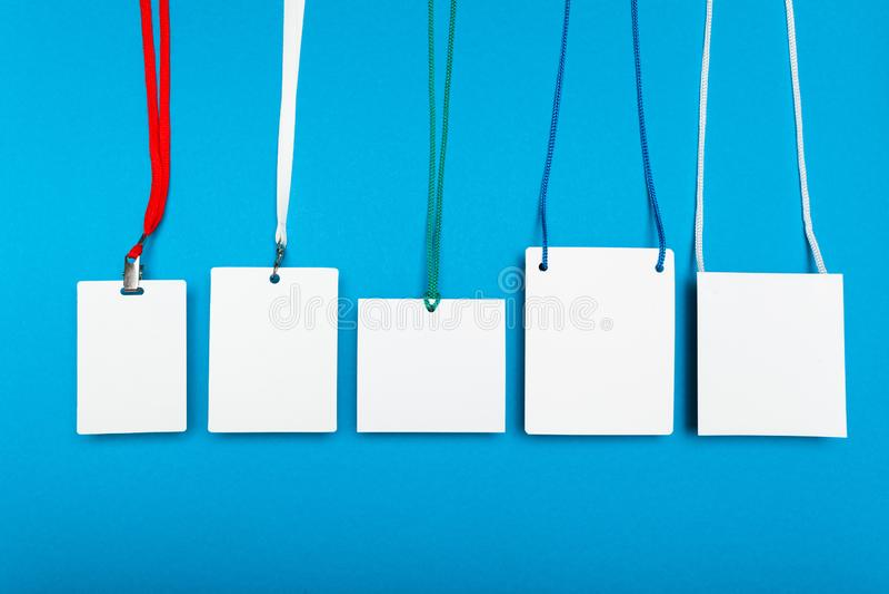 Namnge etikettspasserandet, personalID-kortet, konferenssäkerhet arkivbild