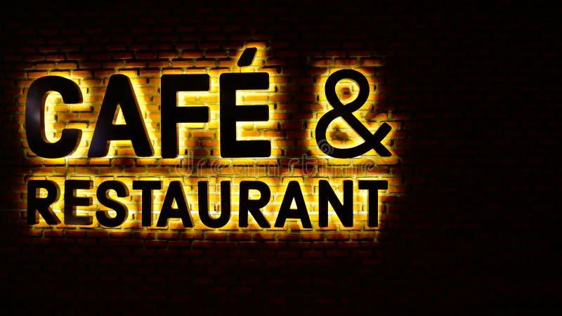 Namnge restaurangtecknet arkivbilder