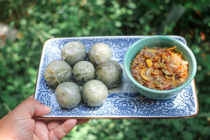 Namprik, het Lokale Thaise voedsel stock afbeelding