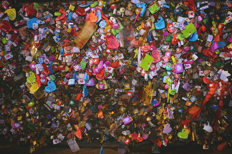 Namsan Love Locks stock photography