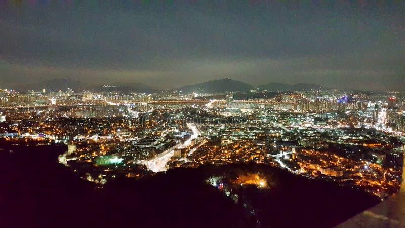 Namsan wierza miasta widok obraz royalty free