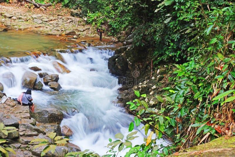 Namtok Phlio National Park waterfall, Chanthaburi , Thailand. A Namtok Phlio National Park waterfall, Chanthaburi , Thailand royalty free stock photos