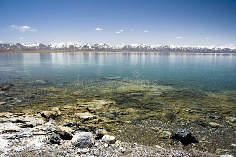 namtso λιμνών στοκ εικόνες