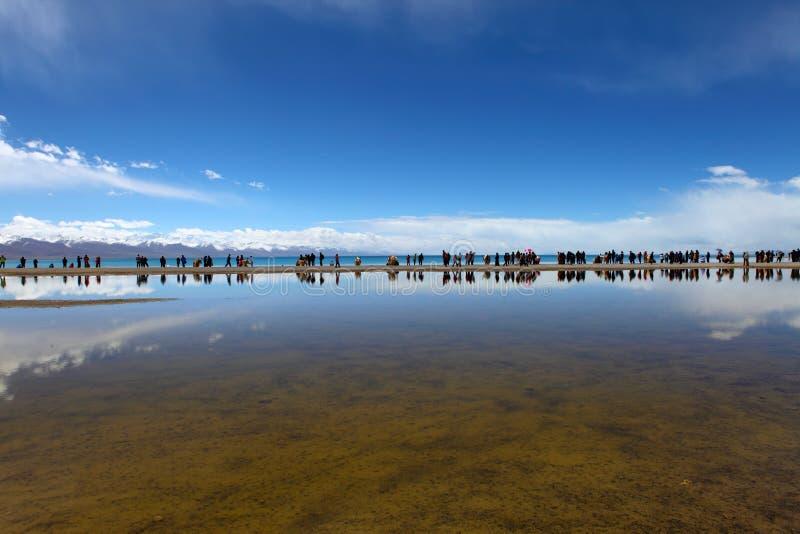 Namtso jezioro zdjęcie stock