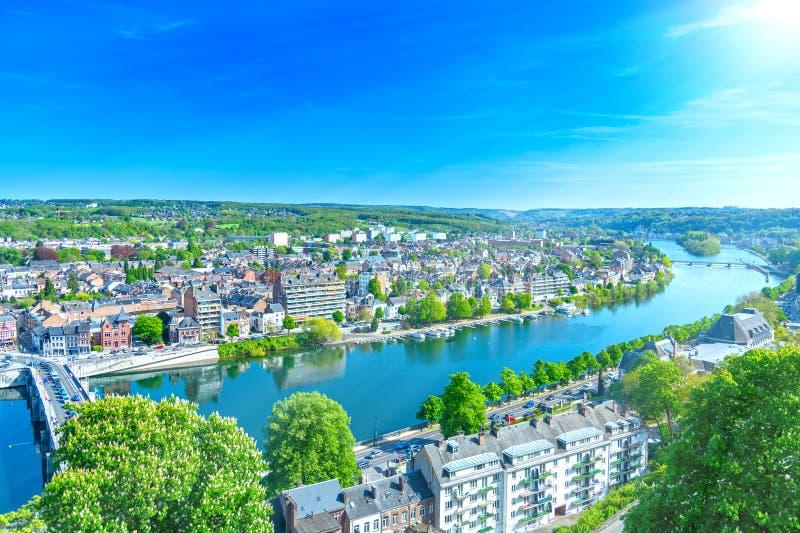 Namur stad i Belgien royaltyfri bild