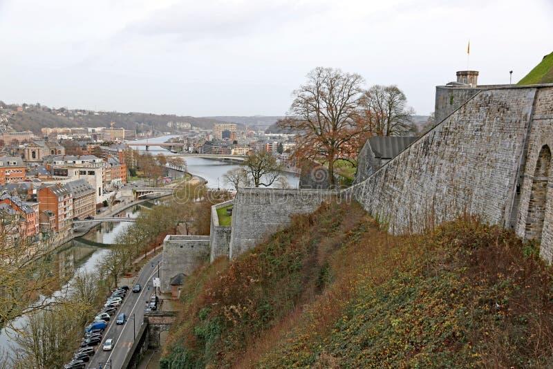 Namur Citadel, Belgium. Namur town from the Citadel, Belgium stock photography