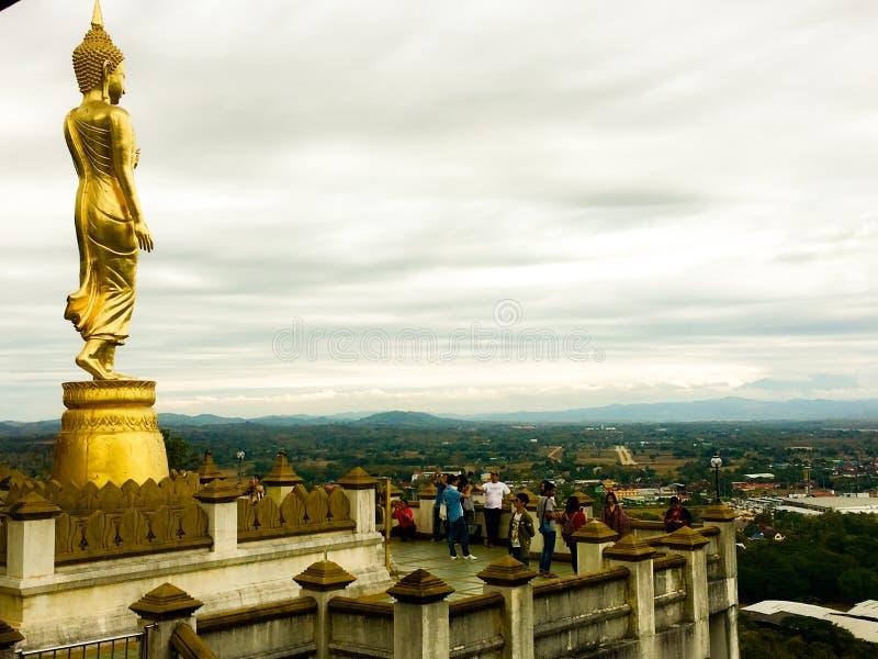 Nan - la TAILANDIA 20 AGOSTO 2018 Wat Phra That Khao Noi è situata sulla cima della collina di Khao Noi, due chilometri ad ovest  immagini stock