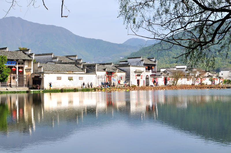 Nan lake in Hong Village stock image