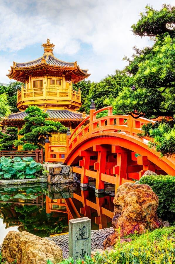 Nan Lian Garden in Diamond Hill, Hong Kong immagini stock libere da diritti
