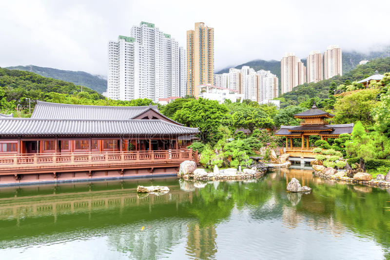 Nan Lian Garden i Diamond Hill, Hong Kong arkivfoton