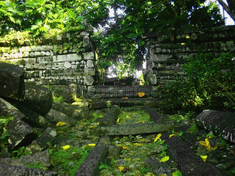 Nan Madol Ruins in Micronesia immagine stock libera da diritti