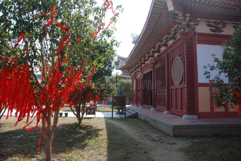 Nan Shaolin Monastery. Decoration in garden of buddhist temple Nan Shaolin in Putian, China royalty free stock image