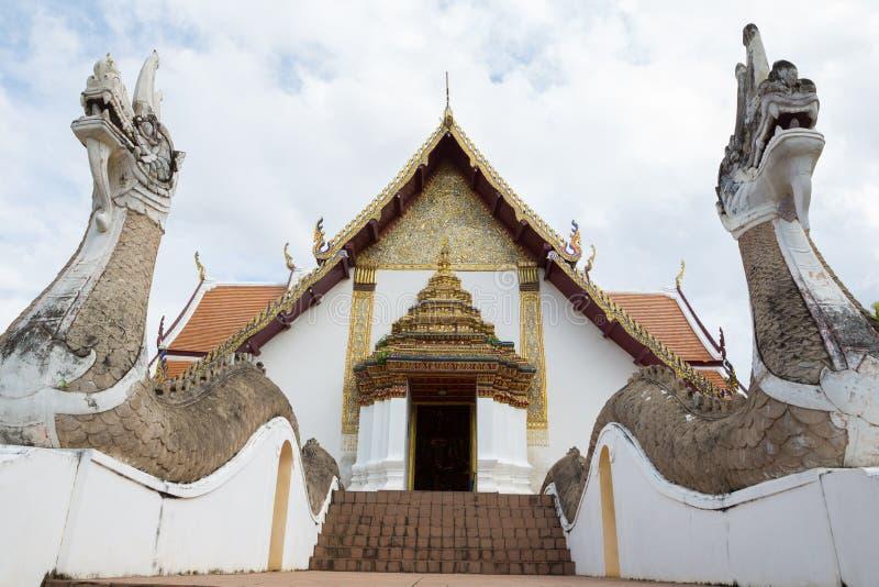 NAN, THAÏLANDE 29 juillet : Wat Phumin Places de culte et de temple images stock
