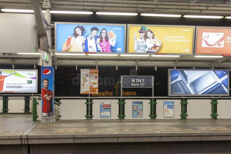 Nana BTS station in Bangkok stock photo