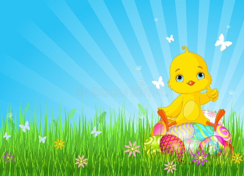 Nana de Pâques se reposant sur des oeufs illustration libre de droits