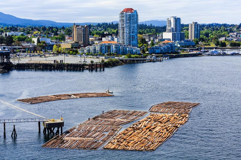 Nanaimo BC mit der Protokollierung stockfoto