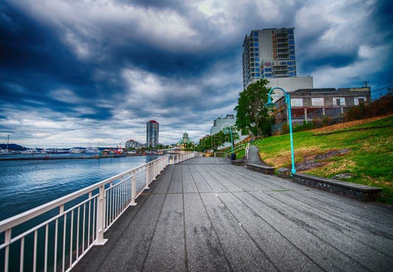 Nanaimo oceanfront i den Vancouver ön, Kanada royaltyfri fotografi