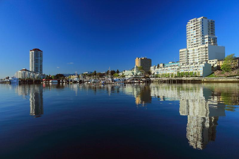 Nanaimo schronienie na Spokojnym wiosna ranku, Vancouver wyspa fotografia stock